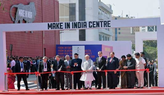 PM Narendra Modi inaugurating the Make in India week