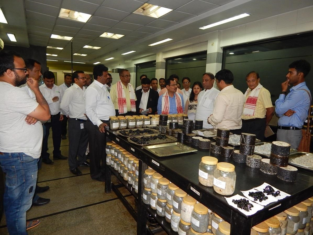 Honourable guests at the research lab of BKC, Guwahati